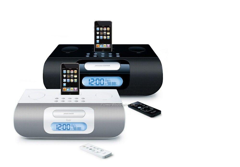 Iluv Ipod Alarm Clock Audio System - Blk