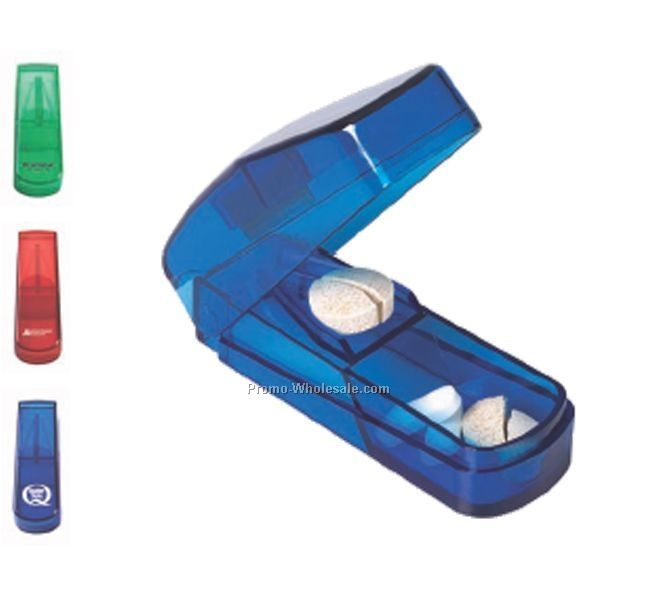 Lancelot Rectangle Translucent Pill Cutter (1 Day Shipping)