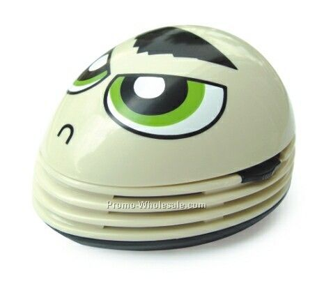 Mini Desktop Vacuum Cleaner- Facial Expression (Angry). Cleans The Keyboard