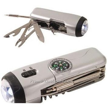 Multi-tool Flashlight With LED Light