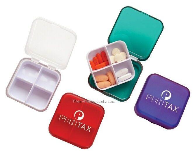 Pill Box With Tray