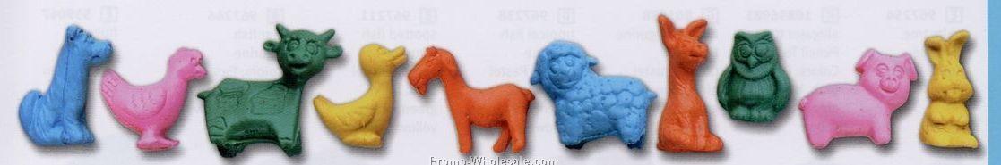 Stock Shape Eraser - Jr. Farm Animal Figurine