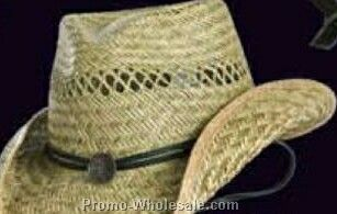 Toby Keith Straw Hat W/ Black Decoration