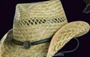 Toby Keith Straw Hat W/ Black Decoration