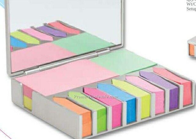 """Valumark Sticky Note & Desk Set 4-3/4""""x4""""x1-1/8"""""""