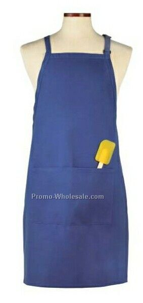 Wolfmark Deluxe Long Bib Apron - Royal Blue
