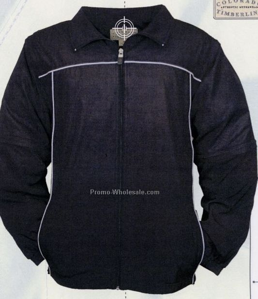 Youth Douglas Jr. Microfibre Warm Up Top Jacket With Zips Off Sleeves (S-l)