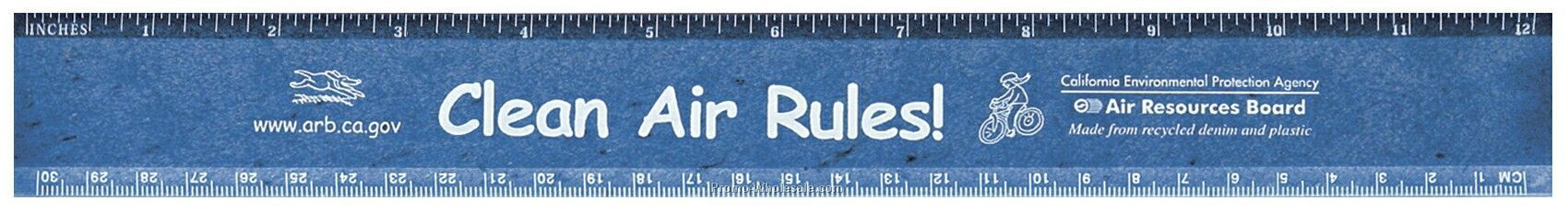 """100% Recycled 12"""" Ruler"""