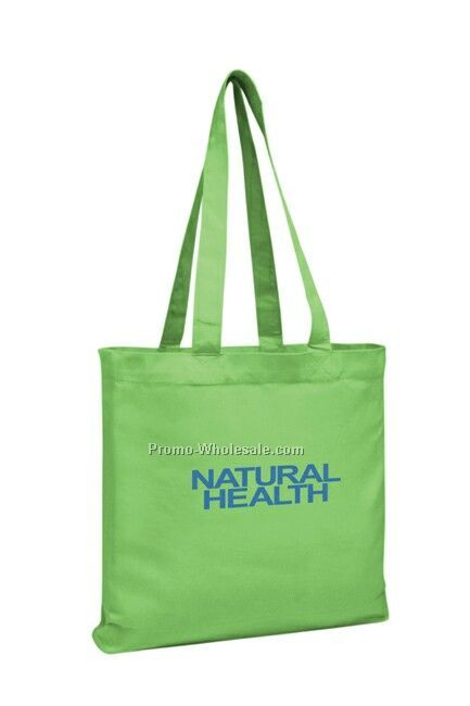 "14""x14""x3"" V Natural Organic Colored Gusset Tote Bag"