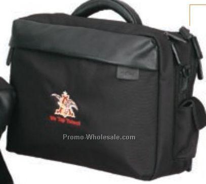 "15""x11""x5"" Ballistic Nylon & Leather Computer Briefcase"