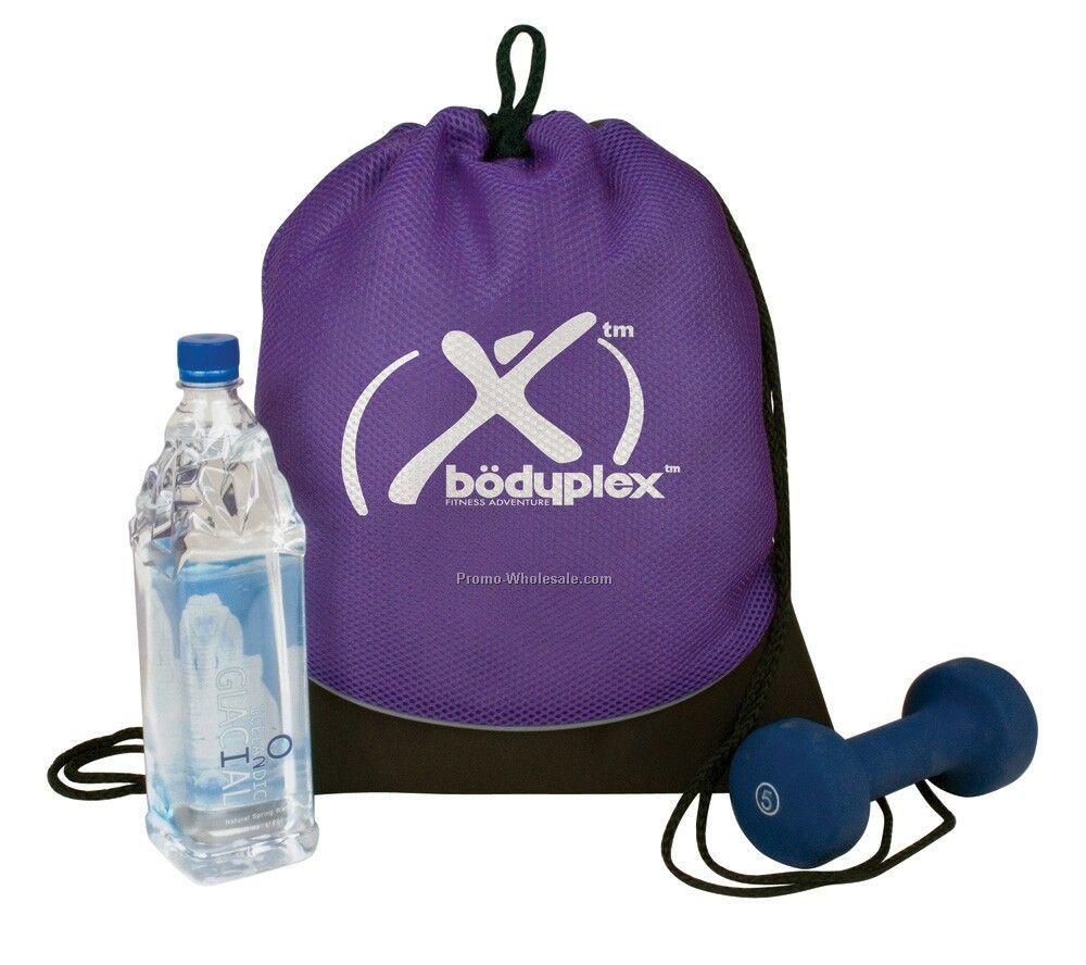 "15""x18""x1.25"" Fitness Mesh Drawcord Bag"