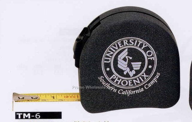 6' Tape Measure With Retractable Lock Mechanism & Belt Clip