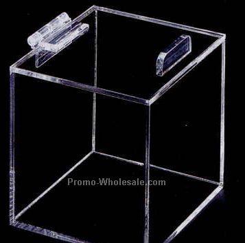 "Acrylic Display Box W/ Hinged Lid - 6""x4""x6"" (Not Shown)"