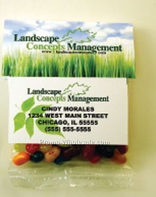 Business Card Header Filled W/ 2 Oz. Gummi Bears Or Worms