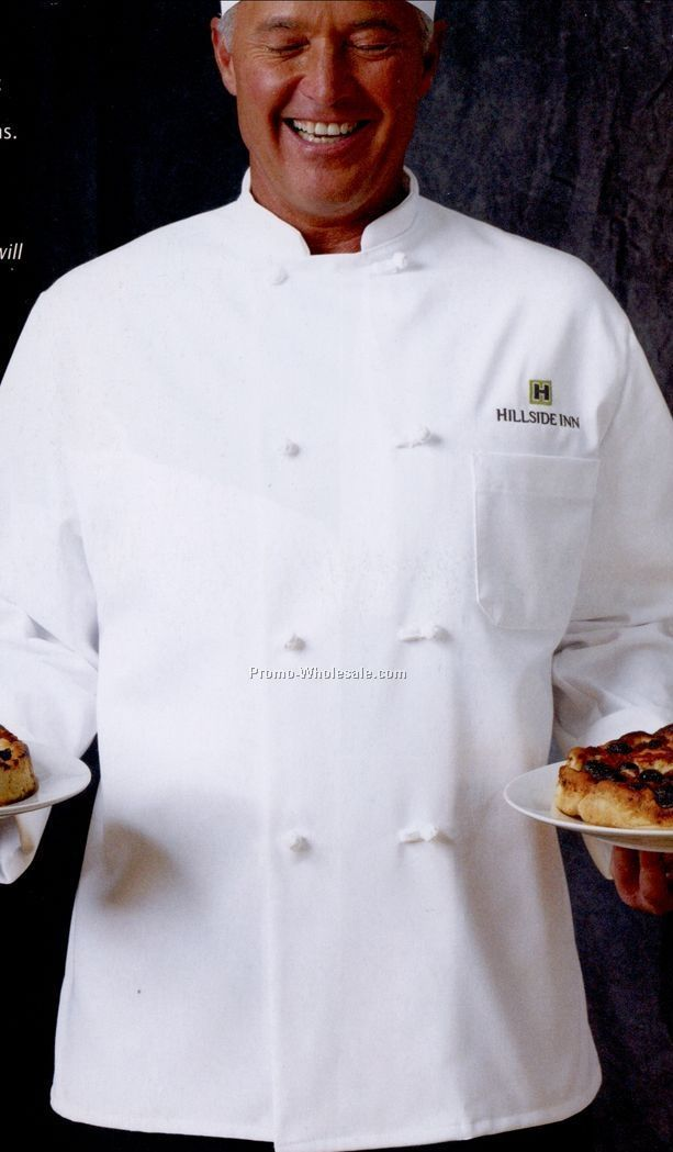 Chef Designs 8 Knot Button Chef Coat (Xs-xl)