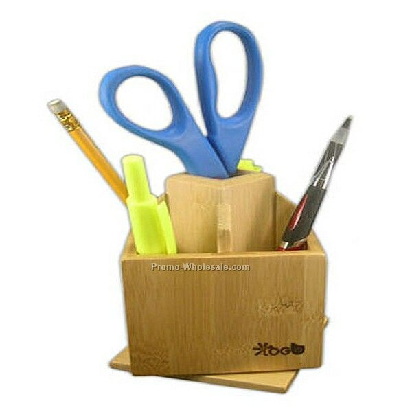Eco-friendly Bamboo Desk Top Organizer (10 Biz Days)
