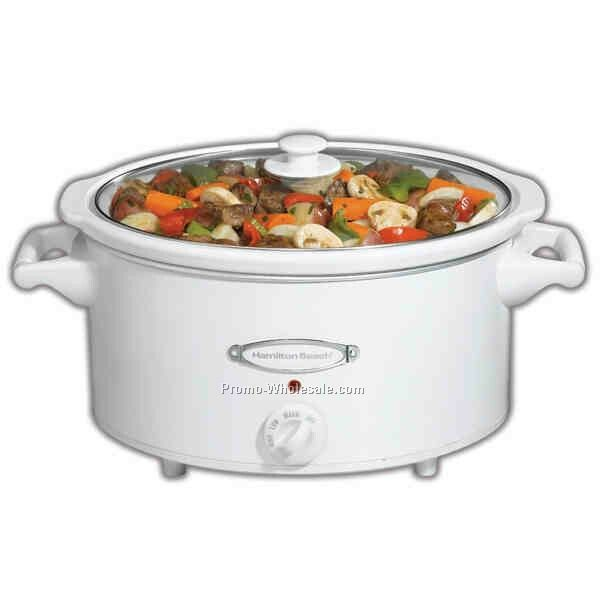 Hamilton Beach 7 Qt Oval Slow Cooker With Lid Rest