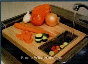 Handy Gourmet Wood Oversink Cutting Board