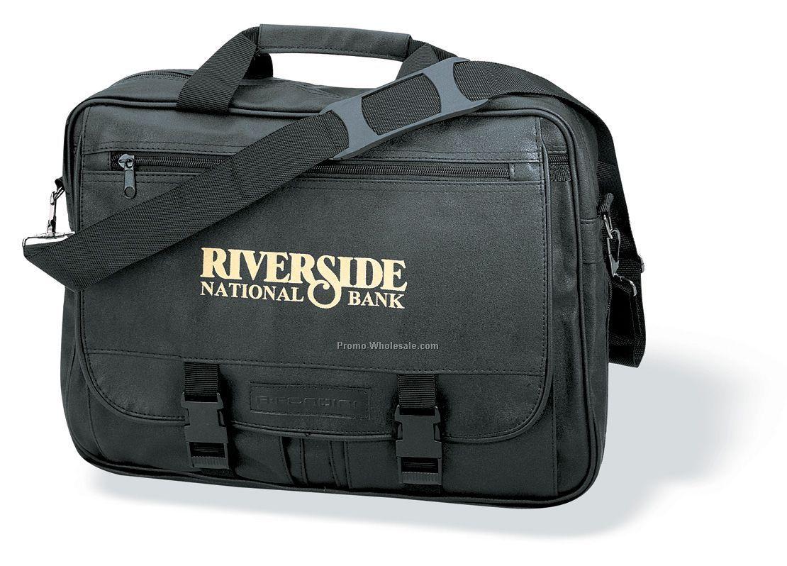 """Leatherette Expandable Briefcase (16""""x12""""x5"""")"""