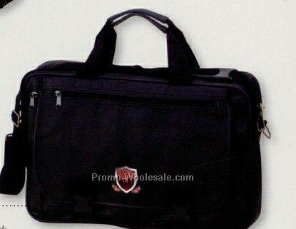 Leatherette Expandable Briefcase