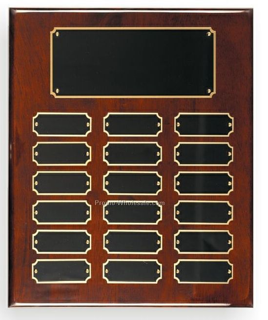 "Rosewood Piano Finish Perpetual Plaque (9""x12"")"