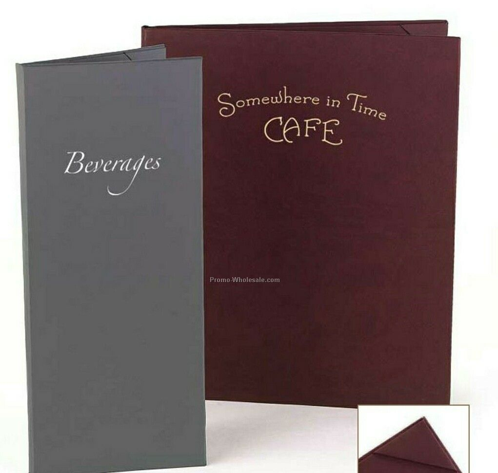"Soft Touch 3 View Trifold Menu Cover (8-1/2""x14"")"