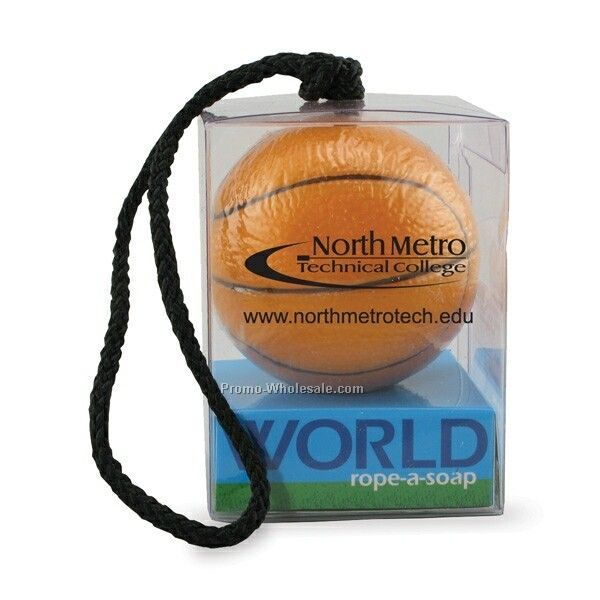 Sportz World Soap On A Rope - Basketball