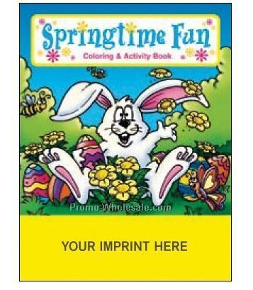 Springtime Fun Coloring Book