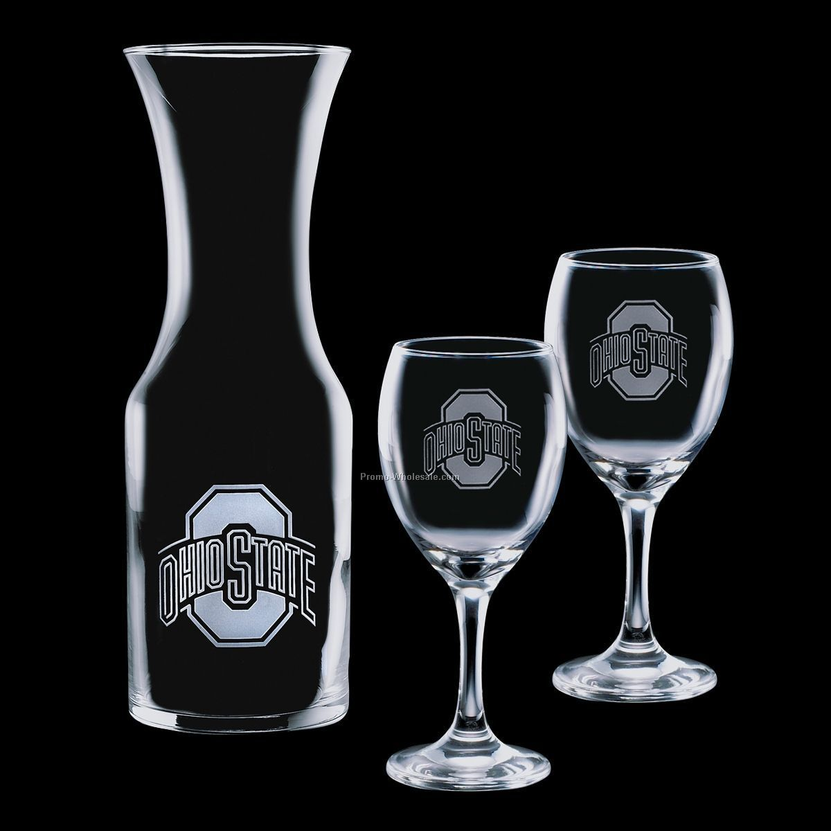 Stanton Large 33 Oz. Carafe And 2 Wine Glasses