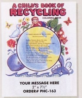 "Stock Design Environmental Theme Coloring Book - Recycling (8-1/2""x11"")"