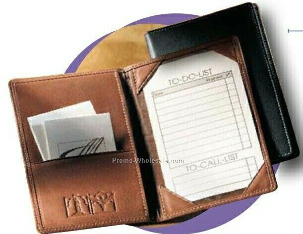 Synthetic Leather Fold Over Note Jotter