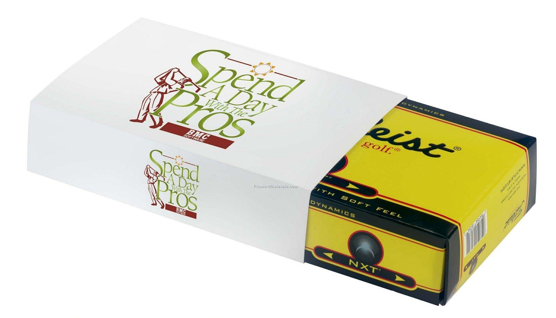 Tee Off Norwood Custom Sleeve For Titleist, Pinnacle Or Maxfli Golf Balls