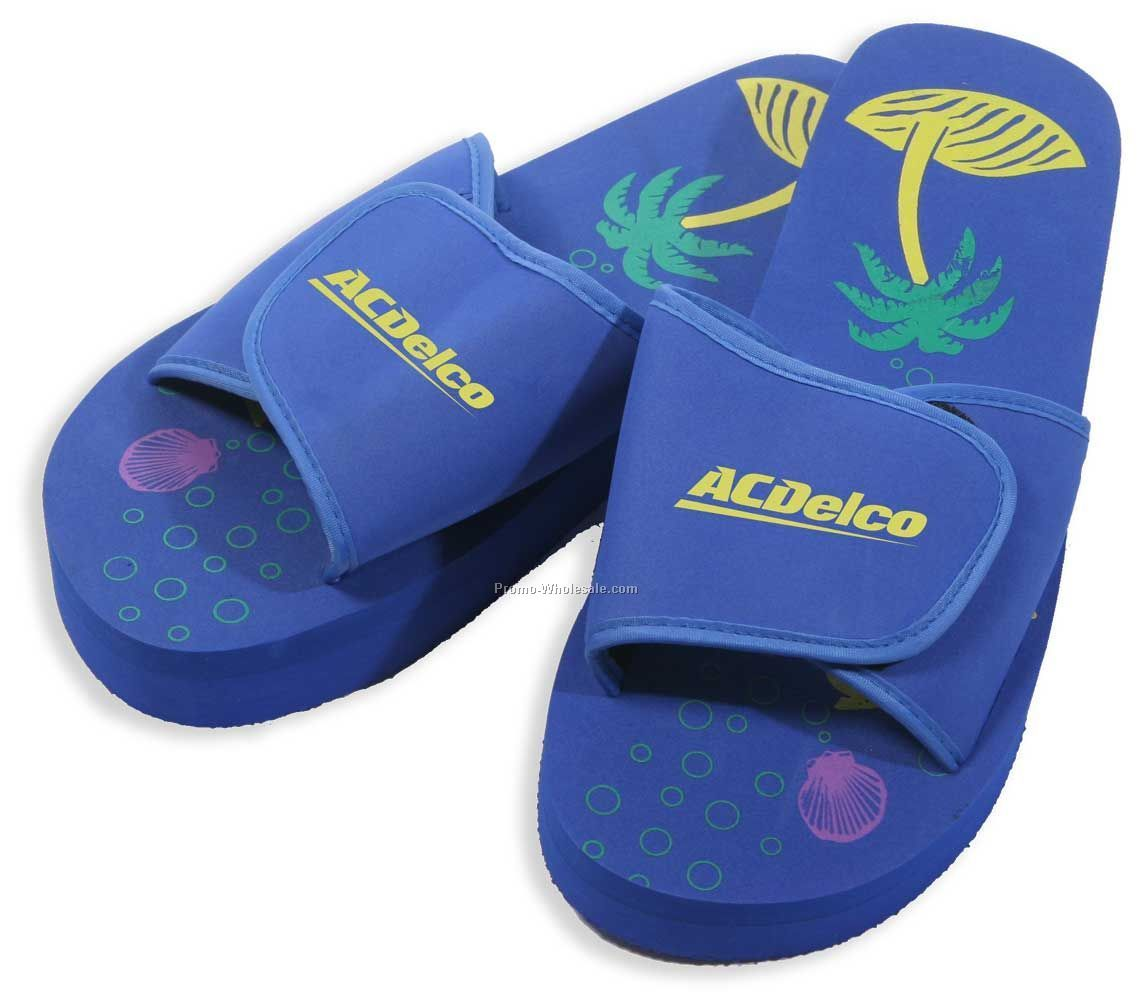 The Daytona Slipper - Velcro Adjustable Straps & 3-layer Sole (Import)
