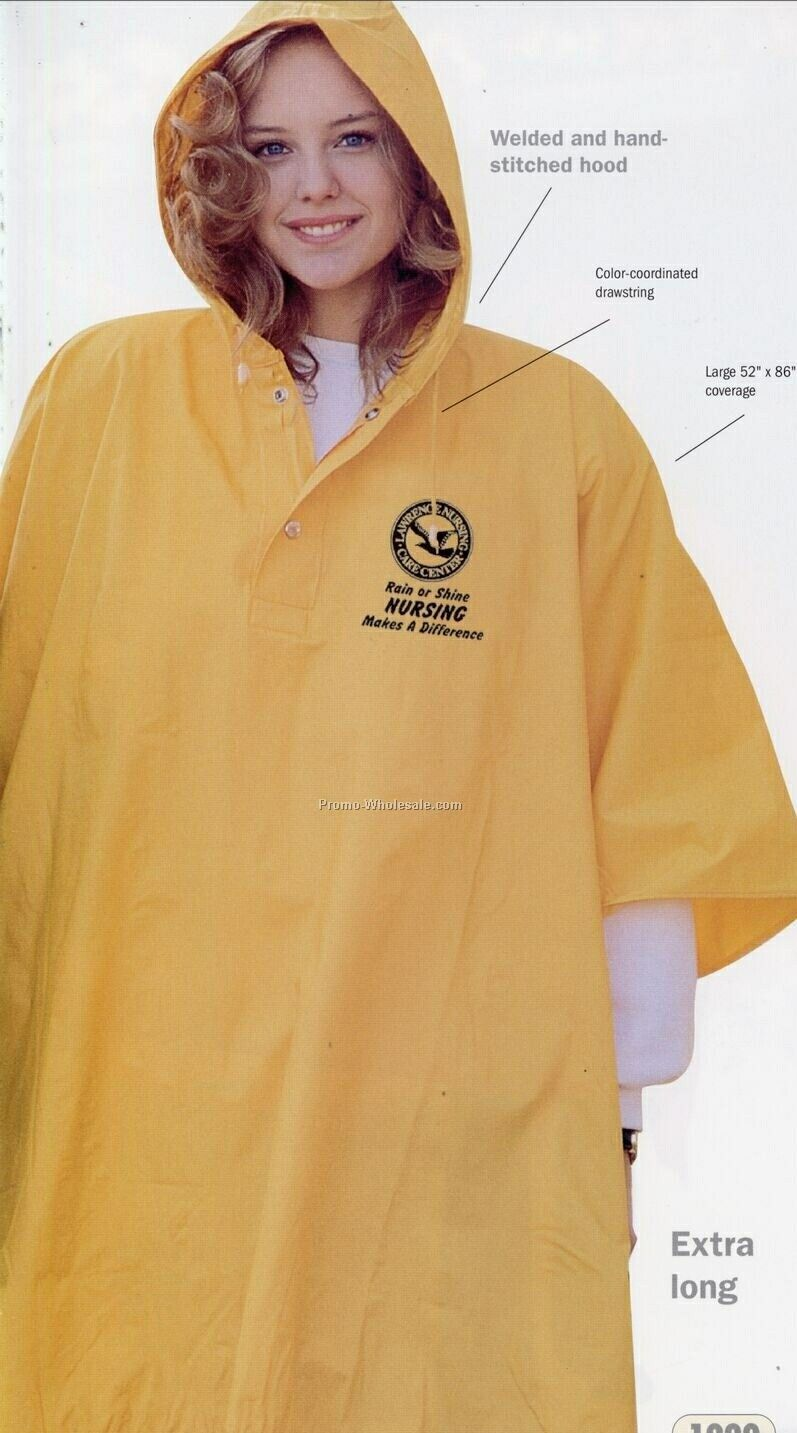 Tough Heavy Weight 18 Mm Pvc Poncho (One Size)