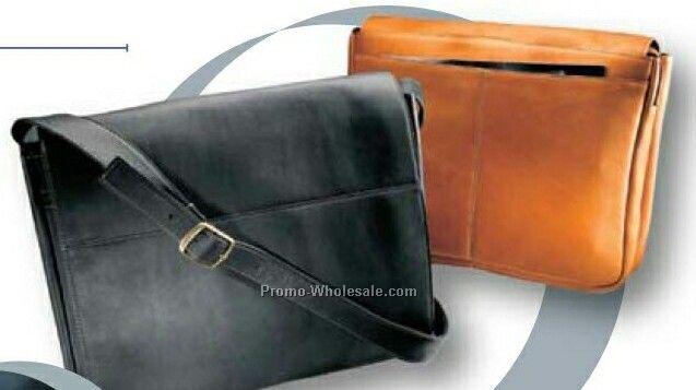 Vaqueta Napa Leather Messenger / Laptop Briefcase