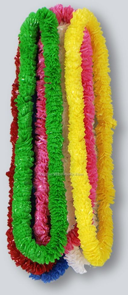 "1-1/2""x36"" Soft Twist Solid Color Poly Leis (720 Piece)"