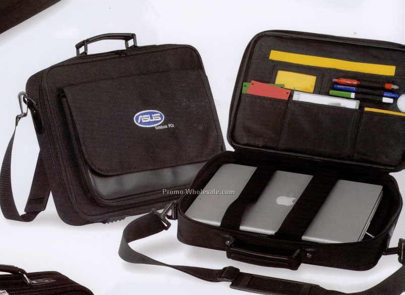 "16""x11""x2-1/2"" Conventional Laptop Briefcase (Screened)"