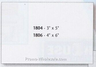 "3""x5"" Pdq Square Corner Rectangle Decal"