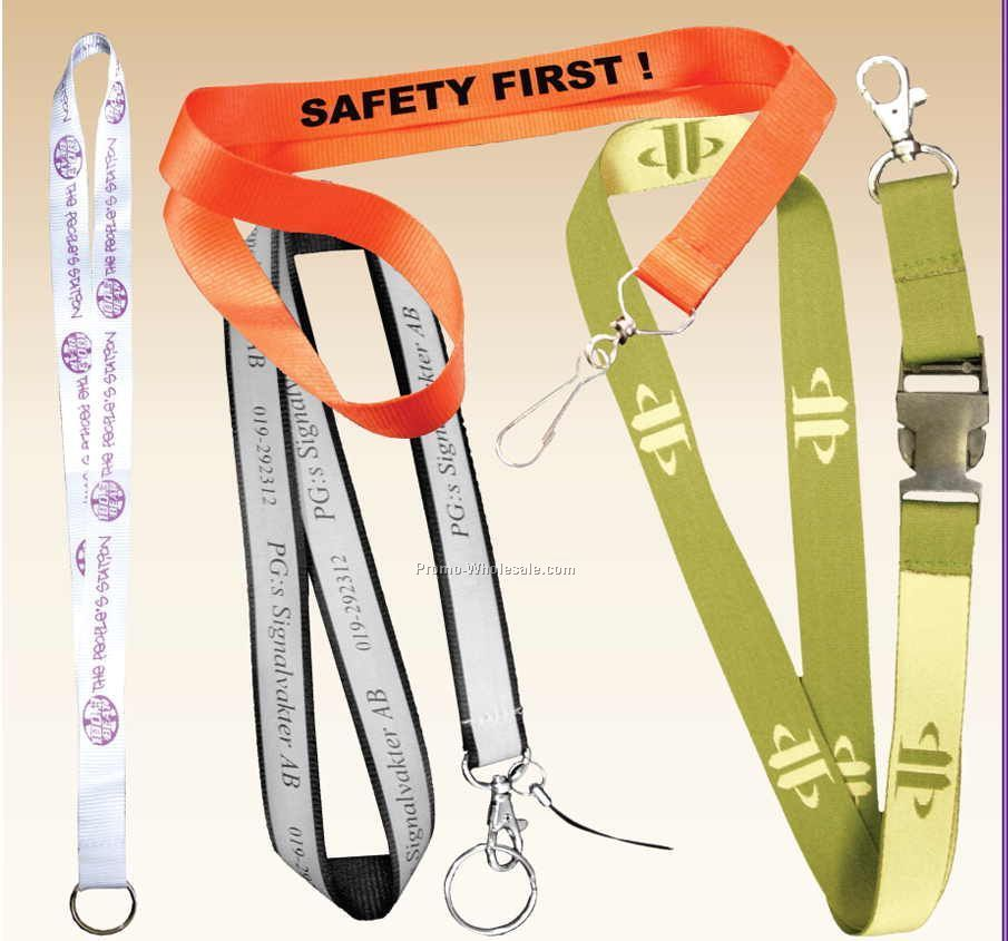 """36""""x3/4"""" Woven Lanyards With Metal Hook"""