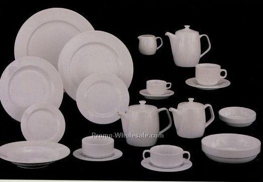 """4-3/4"""" White Elegance Fine Porcelain Ad Saucer"""
