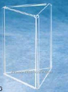 "5""x7"" Acrylic 3 Panel Triangular Sign Holder/ Ad Display"
