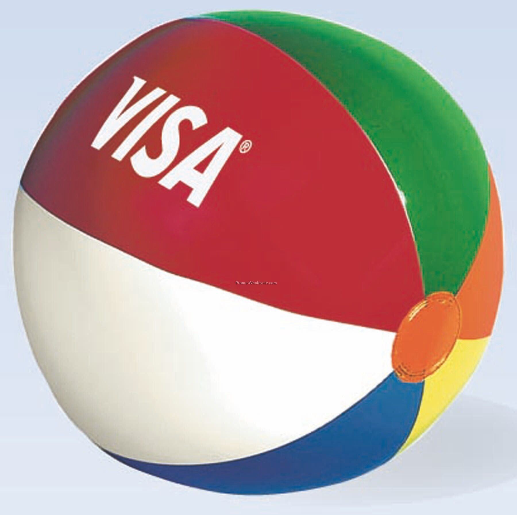 "6"" Mini Beach Ball With Multi-colored Panels"