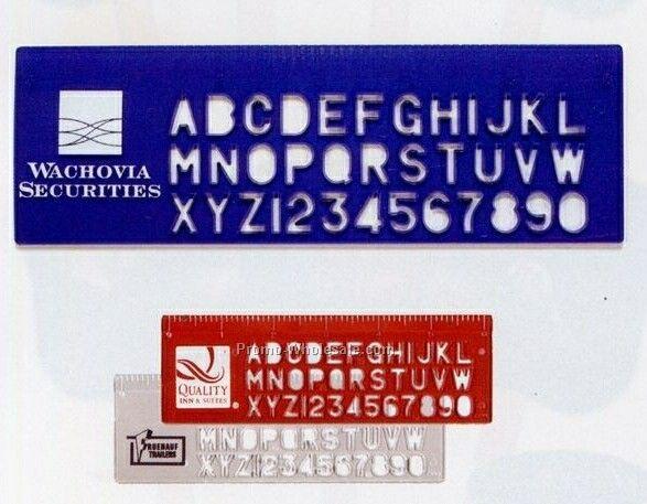 "6"" Plastic Stencil Ruler - Standard Delivery"