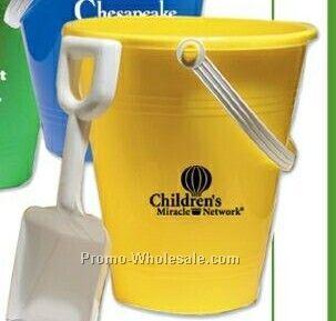 """9"""" Yellow Pail W/ White Shovel"""