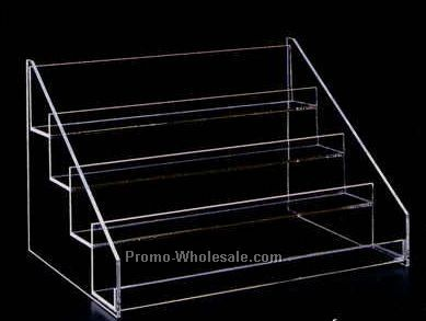 "Acrylic Four-tier Display Rack - 16""x11""x12"" Slatwall"