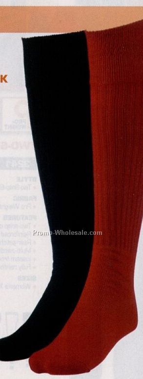 Adult Ribbed Cushioned Soccer Sock (10 To 13)