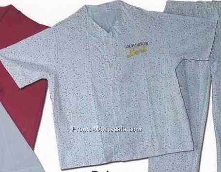 Blank Solid Color Or Plaid Flannel V Neck Nightshirt