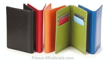 "Colorplay Leather Card Case (6 Card Slot)- 4""x2-1/2"""