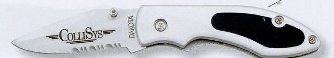 "Dakota ""pioneer"" Pocket Knife With Non-slip Grip (Silver)"