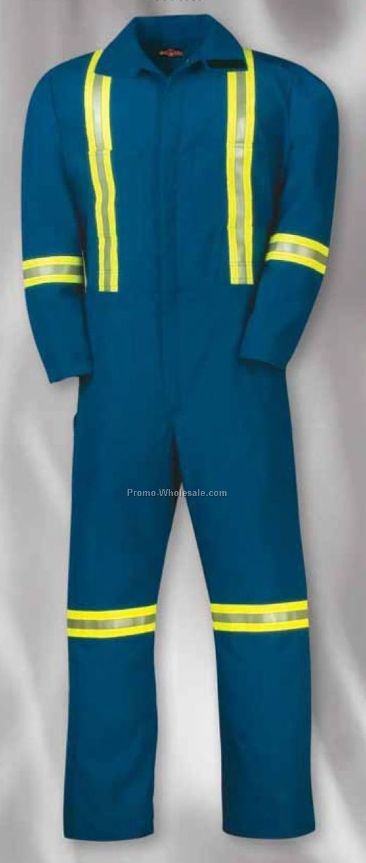 Flame Resistant 6 Oz. Nomex Iiia Coverall W/ Reflective Tape (S-xl)